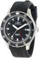 Invicta Mens 11255 Black Dial Black Polyurethane Watch